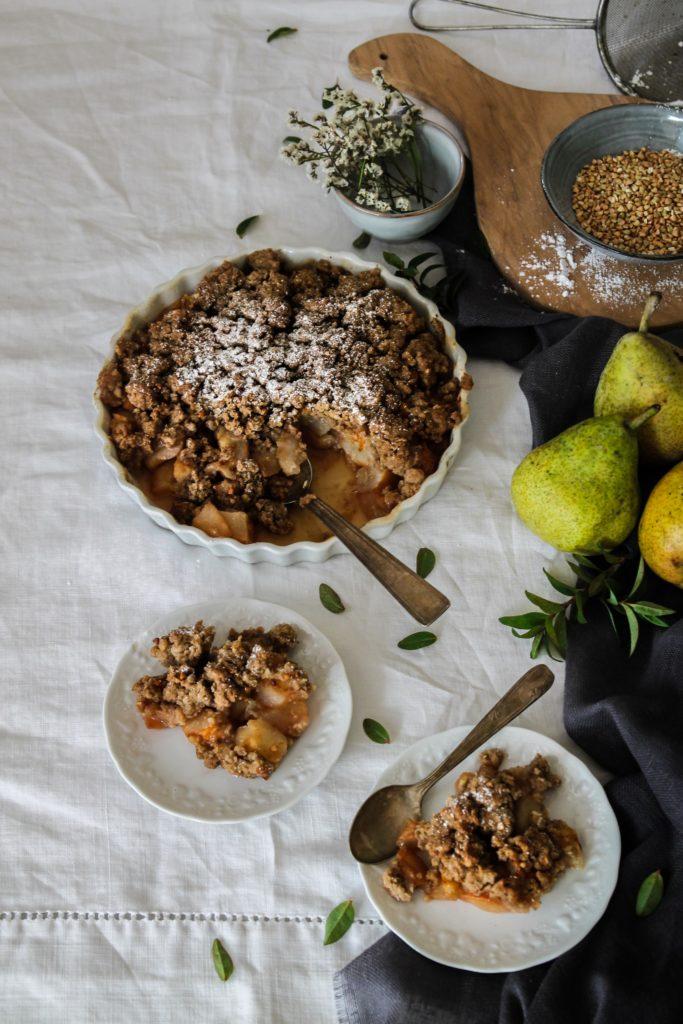 recette de crumble aux poires