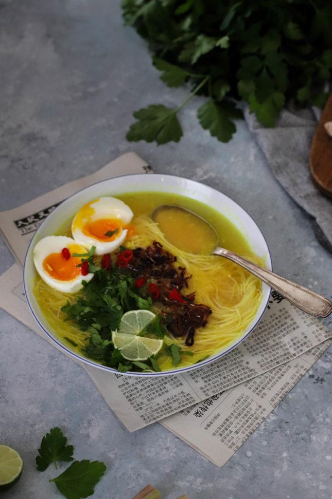 Soupe indonésienne végétarienne