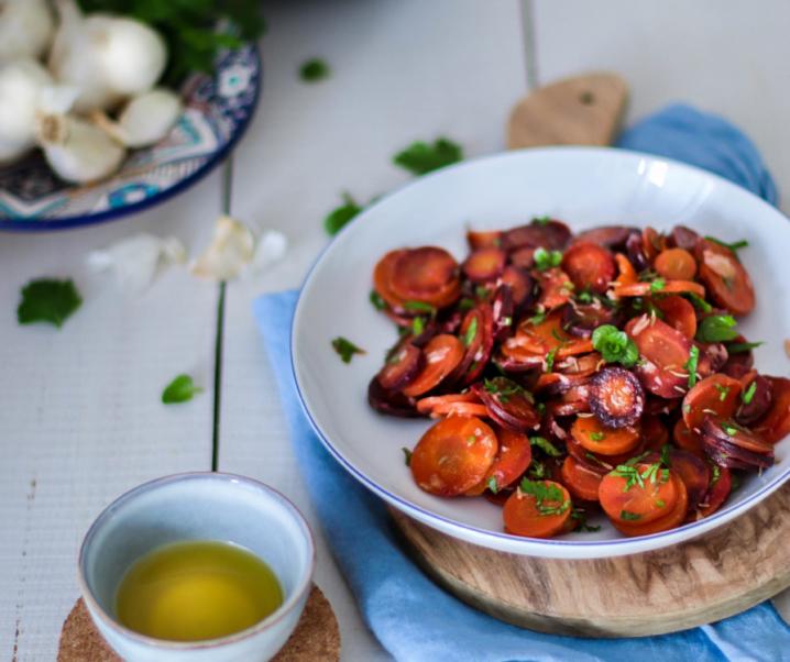 Salade marocaine de carottes {vegan – sans gluten}