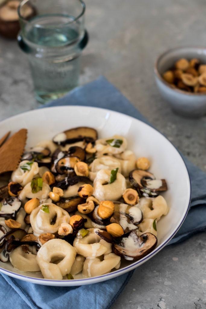 pâtes sauce champignons