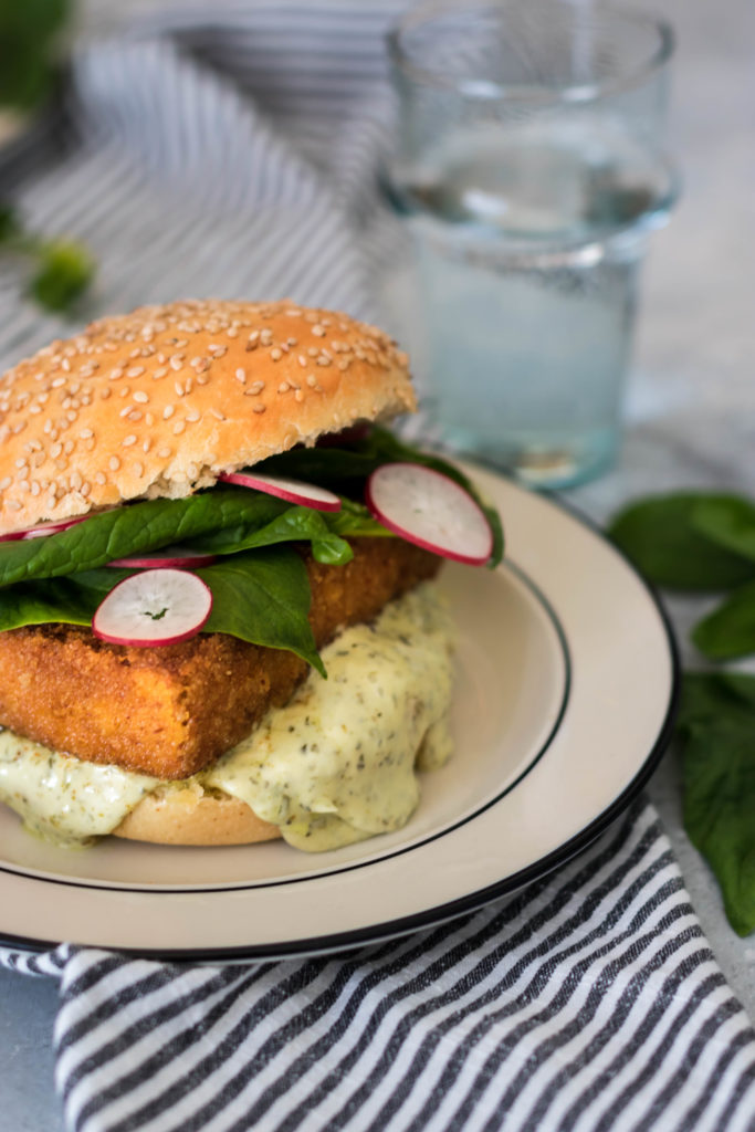 vegan filet 'o' fish burger
