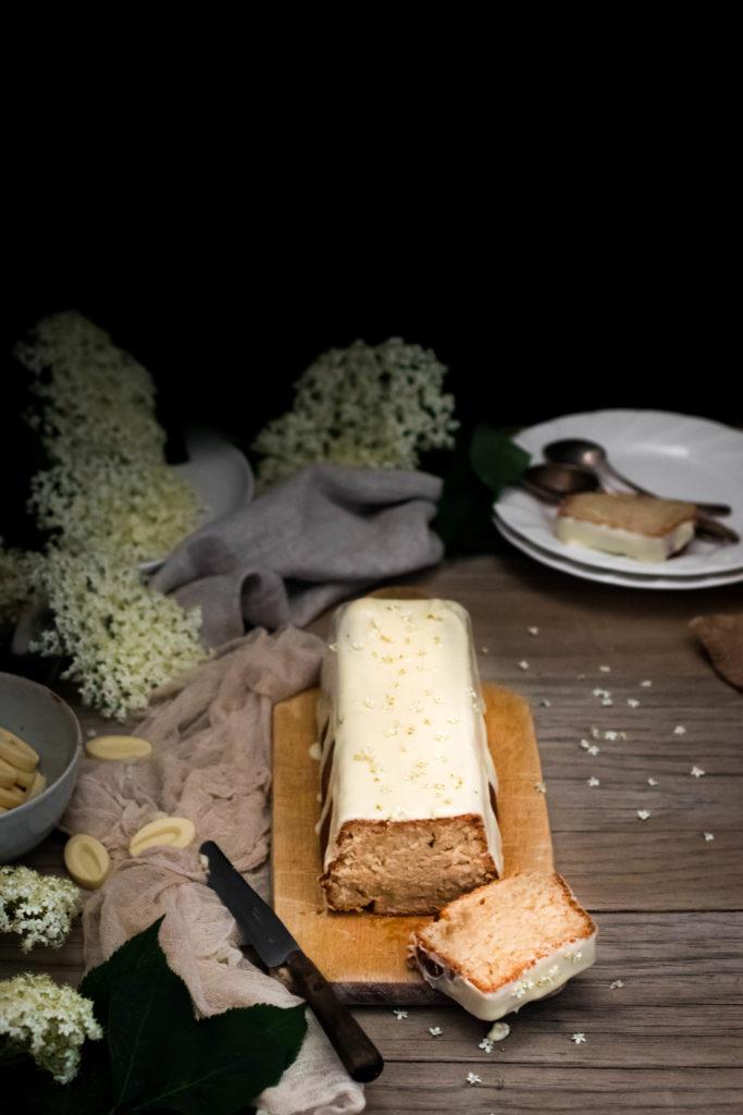 Cake au citron yuzu et sureau {vegan}