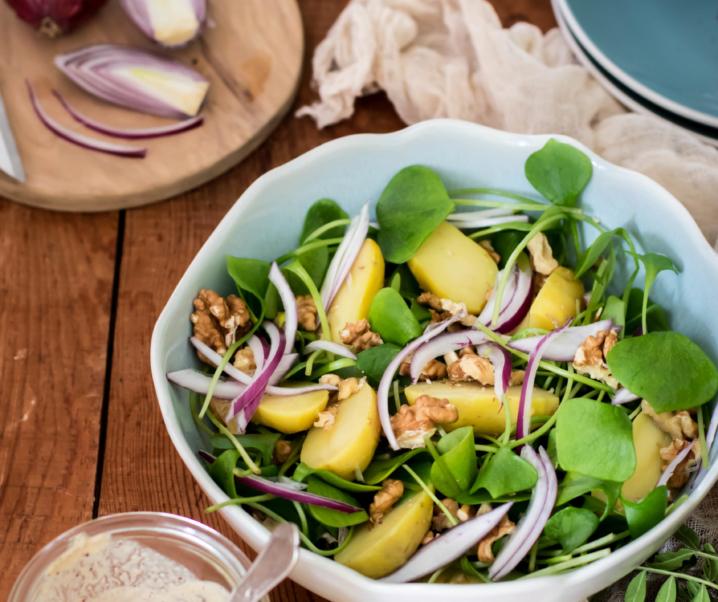 Salade de pourpier et pommes de terre {Vegan – glutenvrij}